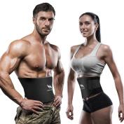 Waist Trainer Belt, OMorc [Upgraded Version] Waist Trimmer Belt, Waist Trainer for Weight Loss, Belly Dance Belt, Hot Sweat Belt For Men & Women