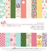 Pebbles Single - Sided Paper Pad 15cm x 15cm 36/Pkg - Tealightful