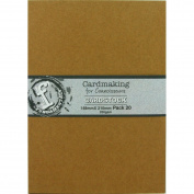 Fundamentals Cardmaking Unscored Cardstock 15cm x 21cm 20/pk-kraft