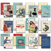 Dapper Authentic Life Cards 36/Pkg - 7.6cm x 10cm Pocket Crafting & Journaling Cards