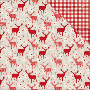 Merry & Bright Double-Sided Cardstock 30cm x 30cm -Reindeer Games