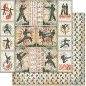 Teenagers Double-Sided Cardstock 30cm x 30cm -Martial Arts