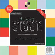 DCWV Single-Sided Cardstock Stack 30cm x 30cm 102/Pkg-Smooth Solid