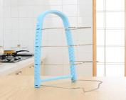 Kitchen pot rack Multilayer Shelf storage rack chopping pot Dish Rack Cutlery Stands storage , blue