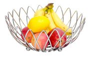 WANG-shunlidaCreative stainless steel basket kitchen drain basket round without magnetic rack