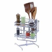 WANG-shunlidaKitchen utensil rack for rotary kitchen multipurpose hook frame stainless steel