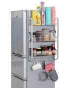 Anna Kitchen Shelves Kitchen Racks Creative Wall-mounted Condiment Bottles Storage Rack Refrigerator Rack Side Wall Pylon