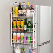 Anna Kitchen Shelves Kitchen Racks Creative Wall-mounted Rack Refrigerator Rack Side Wall Seasoning Storage Shelves
