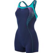 Speedo Women's Fit Legsuit Kickback Swimsuit