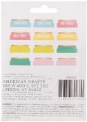 American Crafts Memory Planner Adhesive Cardstock Tabs-