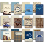 Rugged Authentic Life Cards 36/Pkg - 7.6cm x 10cm Pocket Crafting & Journaling Cards