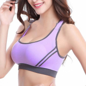 Honglion Women's Sports Yoga Bra Running Jogging Fitness Exercise Pad Wire Free Bra Top Aerobics Vest