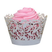 Ouneed ® Liner Baking Cup Muffin 50pcs Lace Laser Cut Cupcake Wrapper Liner Baking Cup Muffin