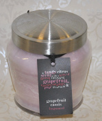 Temptations Grapefruit Cassis Fresh Citrus Fruit Large Fragranced Candle In A Glass Jar With Silver Lid Jar