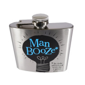 Man Booze Hip Flask - The Bright Side -