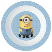 Minions. Deep plate. Plastic product. No bpa. Suitable for microwaves.