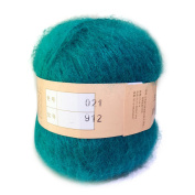 Celine lin One Skein Soft & Warm Angola Mohair Cashmere Wool Knitting Yarn 50g,Peacock blue
