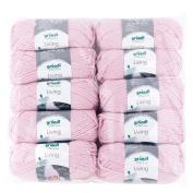 Gründl 3526 Living Value Pack 10 All Balls 100g Hand Knitting Wool/Yarn 80% Polyacrylic/20% polyamide, Rose, 39 x 40 x 8 cm