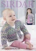Sirdar 4804 Knitting Pattern Baby Childrens Cardigans in Sirdar Snuggly Rascal DK
