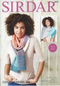 Sirdar Knitting Pattern - COLOURWHEEL DK , Scarf , Castellated Wrap 8032