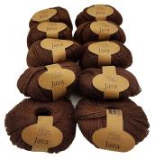 10 x 50 g Hemp Hemp 500 g 100% Hemp Dark Brown 228 – 03 Knitting Yarn Knit and Crochet