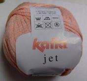 Katia Jet cotton/acrylic yarn, 50g - pale salmon pink