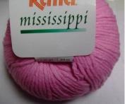 Katia Mississippi cotton/acrylic yarn, 50g - rose