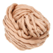Huayang| Icelandic Yarn 260G Super Thickness Simply Soft Roving Yarn Bulky Chunky Bonbons Yarn Spinning Hand DIY Knitting for Baby Assorted Colours-- 100% Acrylic Camel
