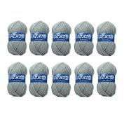 Distrifil 10 balls of Knitting Wool, 100% Acrylic – Azurite 0579