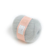 COFCO 1pcs Soft Natural Angola Mohair Cashmere Wool Knitting Skein Yarn - Light Grey