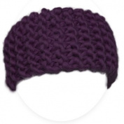 Knitting set for beginners - A kit to knit a headband - Chunky Yarn from Peru - Purple - Explanation (FR, EN, ES, DE, IT)- Knitting Kit with Needles 15 mm Perfect For An Adult Beginner