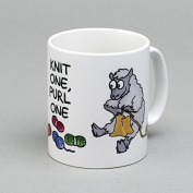 Vanessa Bee Knit One Purl One Knitters Mug