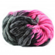Celine lin Super Chunky Roving Big Warm Yarn for Hand Knitting Crochet,250g(8.8 Ounze),Multi-colored005