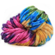 Celine lin Super Chunky Roving Big Warm Yarn for Hand Knitting Crochet,250g(8.8 Ounze),Multi-colored004