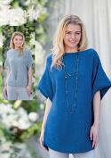 Wendy Ladies Scoop Hem Top & Tunic Fleur Knitting Pattern 5993 DK
