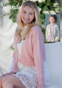 Wendy Ladies & Girls Boleros Fleur Knitting Pattern 5997 DK