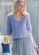 Wendy Ladies Top & Cardigan Celeste Crochet Pattern 6000 DK