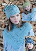 Wendy Ladies Hats, Gloves & Neck Warmer Pixile Knitting Pattern 5989 DK