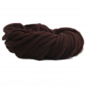 Celine lin Super Chunky Roving Big Yarn for Hand Knitting Crochet, 250g(8.8 Ounze),Coffee