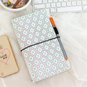 Freckled Fawn Pocket Traveller's Notebook 23cm x 15cm -Mint Diamond Geometric