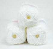 Love2Sleep PREMIER VALUE BABY DOUBLE KNIT YARN WOOL ACRYLIC 3 PACK (3 X 100G) - WHITE