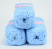 Love2Sleep PREMIER VALUE BABY DOUBLE KNIT YARN WOOL ACRYLIC 3 PACK (3 X 100G) - SKY BLUE