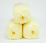Love2Sleep PREMIER VALUE BABY DOUBLE KNIT YARN WOOL ACRYLIC 3 PACK (3 X 100G) - LEMON