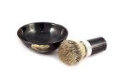 korium shaving brush set aluminium / buffalo horn badger Silvertip - Bowl made of buffalo horn