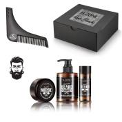 Shamp + Oil + Beard Beard Wax Box + Comb Guide Essential H. ZONE