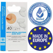 "EUROSIREL - Anti Acne Patch ""Sos Spot"", Anti Pimples, Hypoallergenic With Applicator x 40"