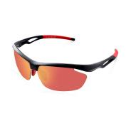 Elegear Polarised Sports Sunglasses for Men/Women/Unisex Cycling, Driving, Running, Fishing, Ski, Golf Glasses Superlight Frame Red
