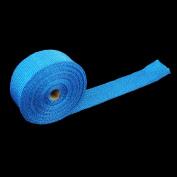 Tape+6 Exhaust Header Fibreglass Heat Wrap Ties Kit Durable Fibreglass Blue~~~