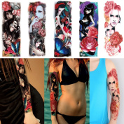 Fake Full Arm Leg Temporary Tattoos Sticker for Beauty Women Men