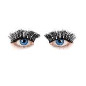 Handmade Natural Fake Eye Lashes SOMESUN Women Beauty Fibre Eyelashes Long Cross Black Fake Eye Lashes